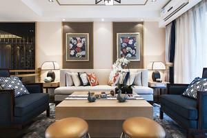 新中式风格精致客厅设计装修实景图