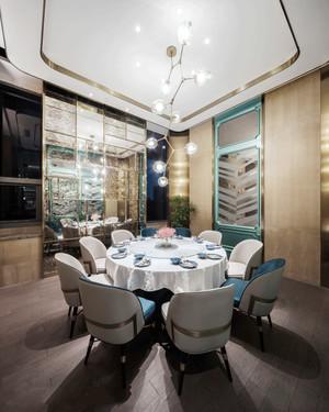 新中式风格精致酒店包厢装修效果图