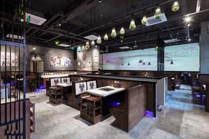 时尚中式风格火锅店设计装修效果图