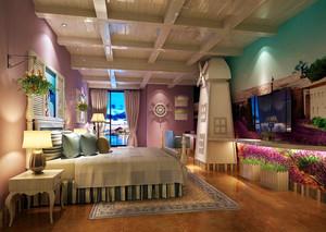 精美时尚欧式风格酒店客房设计装修图