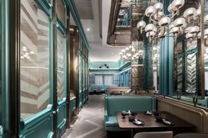 奢华欧式风格精美西餐厅装修效果图