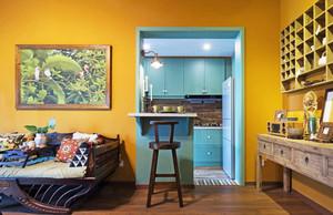 创意地中海风格室内吧台设计效果图