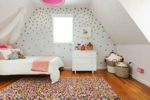 甜美北欧风格阁楼儿童房设计装修效果图
