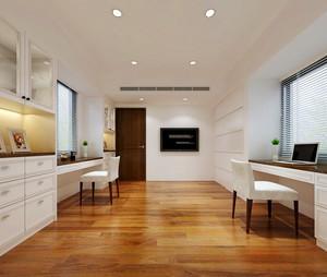 简约白色美式风格两室两厅室内装修效果图