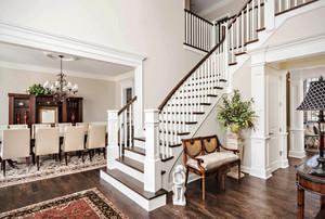 精致美式风格典雅别墅楼梯设计装修图