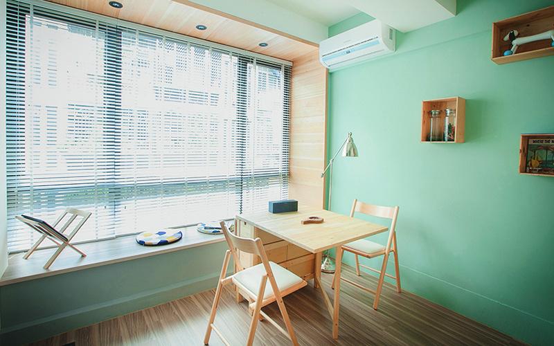 绿色轻松清新风格小户型室内装修效果图