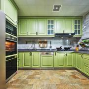 绿色精致清新风格厨房装修效果图赏析