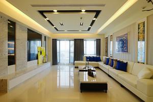 简单时尚现代风格精装大户型室内装修效果图