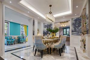 新古典主义风格精致别墅餐厅装修实景图