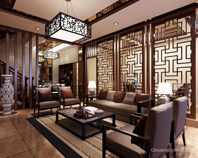 古典精致中式风格客厅设计装修效果图