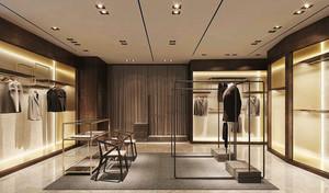 现代风格65平米男士服装店装修图