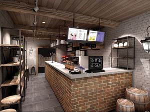现代风格20平米奶茶店装修效果图