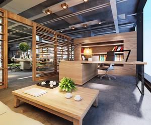 简约后现代风格总经理办公室装修图