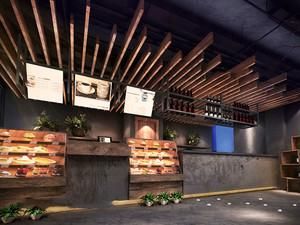 乡村风格主题咖啡厅吧台设计装修图