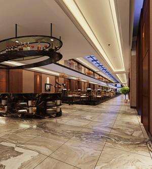 美式风格精致古典酒店餐厅装修效果图