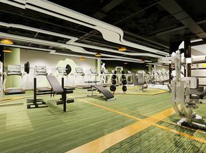 简约风格时尚健身房装修效果图