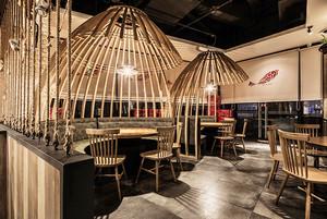 个性时尚后现代风格餐厅装修效果图
