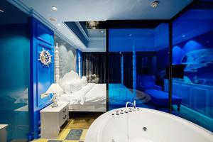时尚地中海风格酒店客房装修效果图