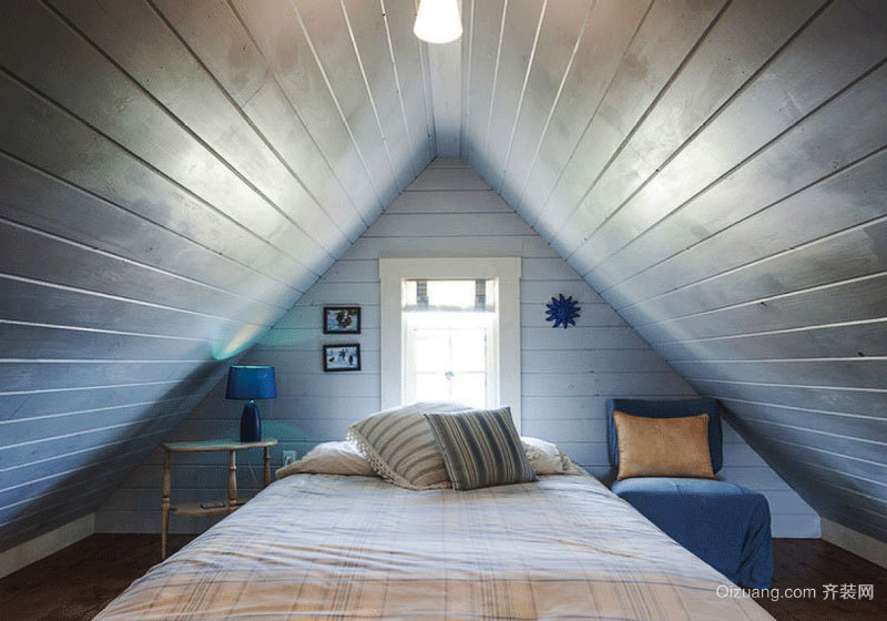 简约北欧风格阁楼卧室装修设计图