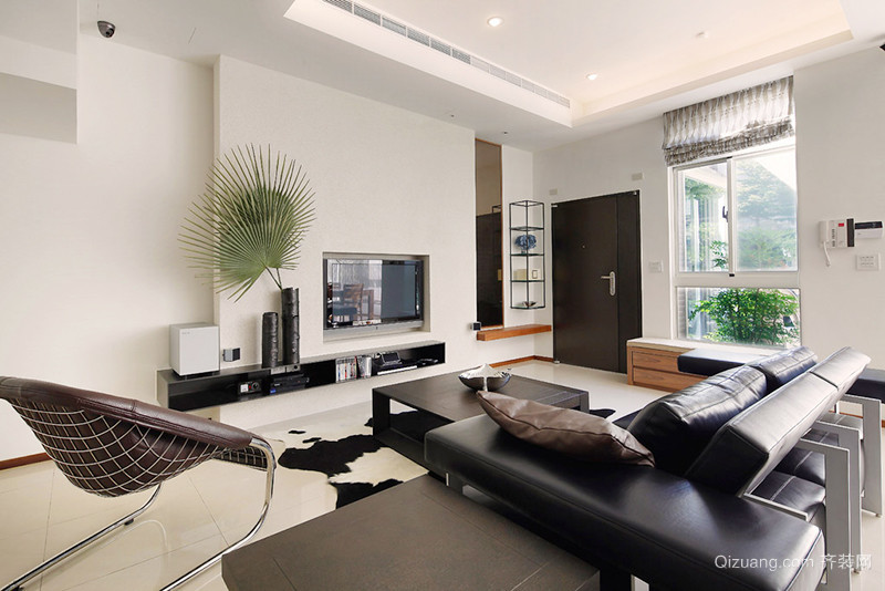 现代简约风格170平米复式楼室内装修效果图