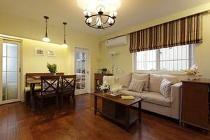 自然温馨美式田园风格三室两厅装修效果图