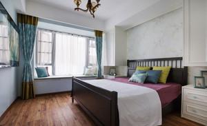 清新宁静美式风格卧室飘窗装修效果图