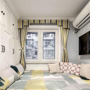 温馨现代美式风格榻榻米卧室装修图