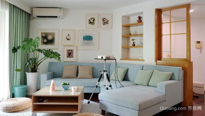 清新风格简约65平米小户型室内装修图