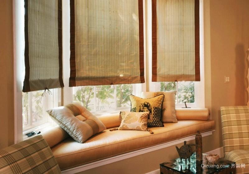 温馨自然田园风格飘窗设计装修效果图