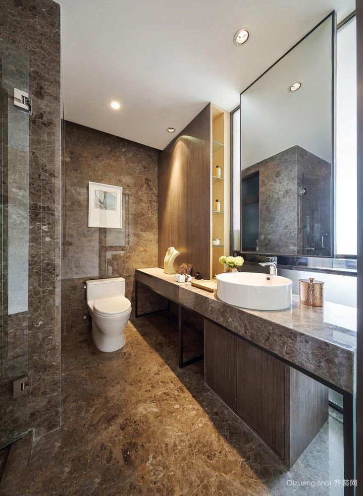 大理石精致现代风格卫生间装修图