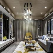 多功能组合时尚现代风格客厅装修效果图