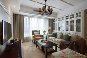 时尚精美现代美式风格两室两厅两卫装修图