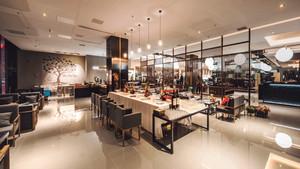 现代风格时尚90平米餐厅设计装修图