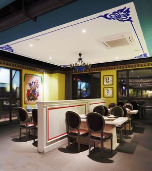 时尚混搭风格精美餐厅设计装修图