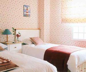 时尚温馨田园风格两室两厅室内装修效果图