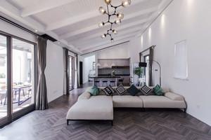 简单时尚现代风格精美客厅装修效果图