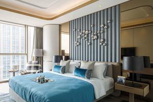 精美创意现代风格卧室背景墙装修效果图