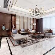 复古时尚新中式风格精致客厅装修效果图