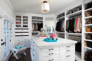 白色精美欧式风格独立式衣帽间装修效果图