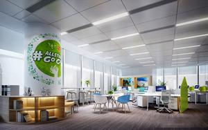 现代风格简约办公室装修效果图