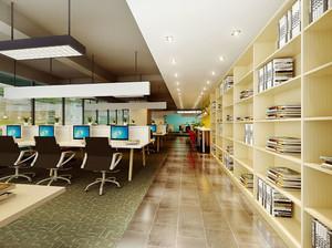 300平米现代风格图书馆设计装修效果图