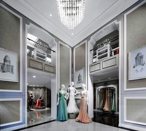 奢华精美欧式风格婚纱店装修效果图