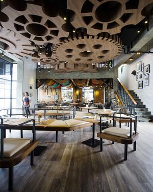 个性时尚现代餐厅设计装修效果图