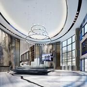 新中式风格精致售楼处设计装修图
