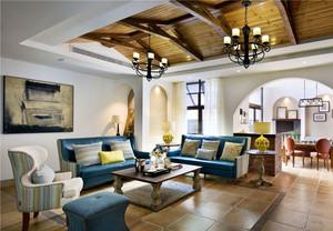 精美时尚地中海风格客厅设计装修图