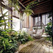 中式风格精美入户花园设计装修效果图