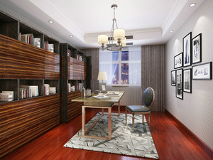 简约美式风格复古精美大户型室内装修效果图