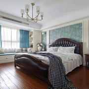 经典时尚美式风格卧室飘窗设计装修图