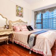 典雅粉色欧式风格儿童房设计装修实景图