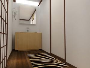 禅意简约日式风格两室两厅室内装修效果图